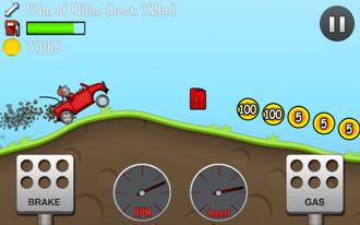 Hill climb racing играть на пк