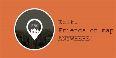 Ezik. Friends on map ANYWHERE!