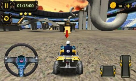 ATV racing: 3D arena stunts
